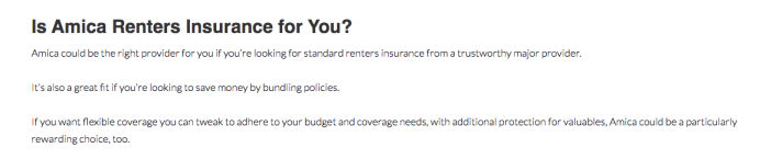 amica renters insurance reviews