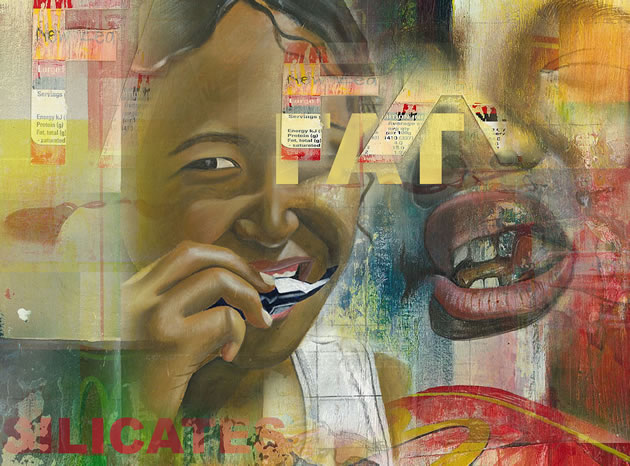 A Level Art Project: Obesity & Junk Food 98