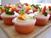 Pimm's cupcakes - https://studentbaking101.wordpress.com/2014/07/27/pimms-cupcakes/