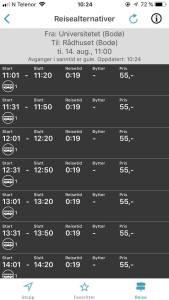 Reiseplanlegger for buss i Bodø