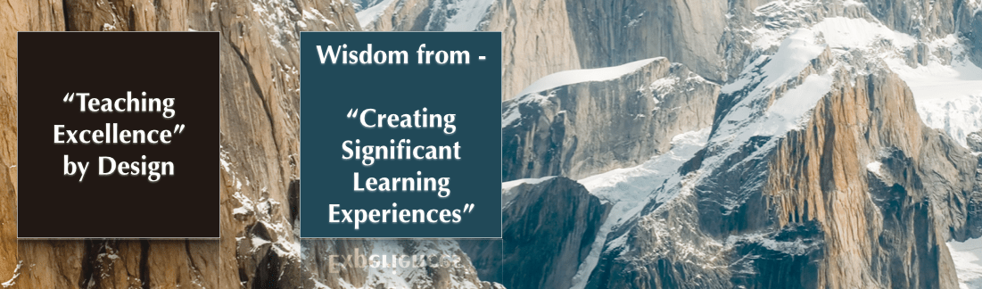 SC 72 Wisdom from – Creating Significant Learning Experiences