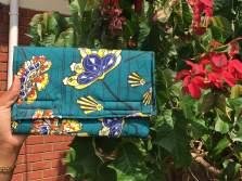 Green Flower purse