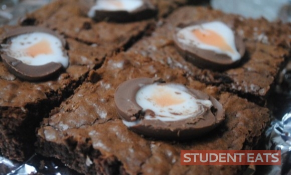 creme egg brownies 2
