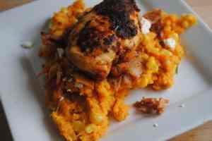 cajun chicken sweet potato mash - 1