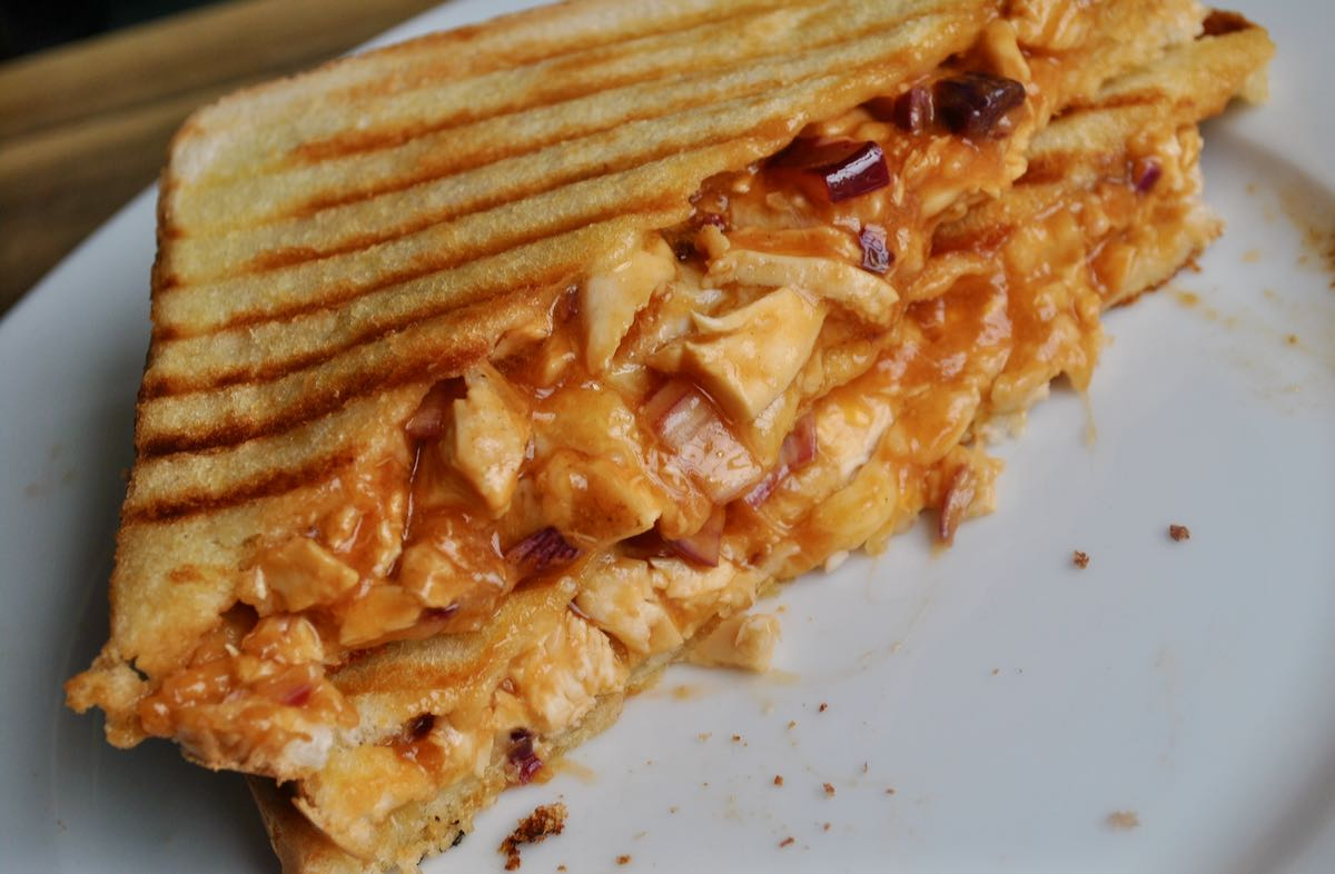 bbq chicken toastie recipe - 1