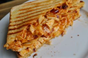 bbq chicken toastie recipe - 1