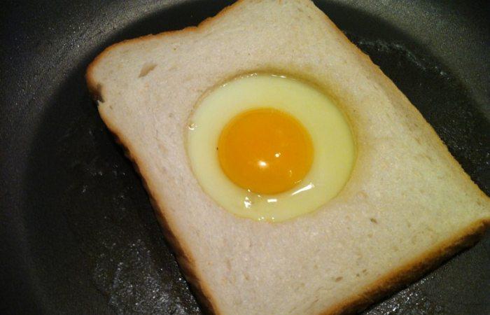 Egg in bread
