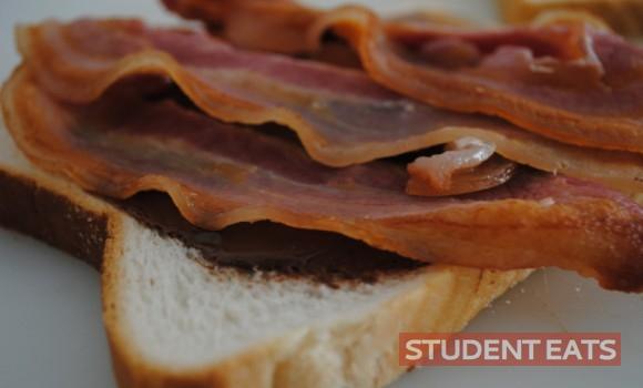 nutella bacon toastie