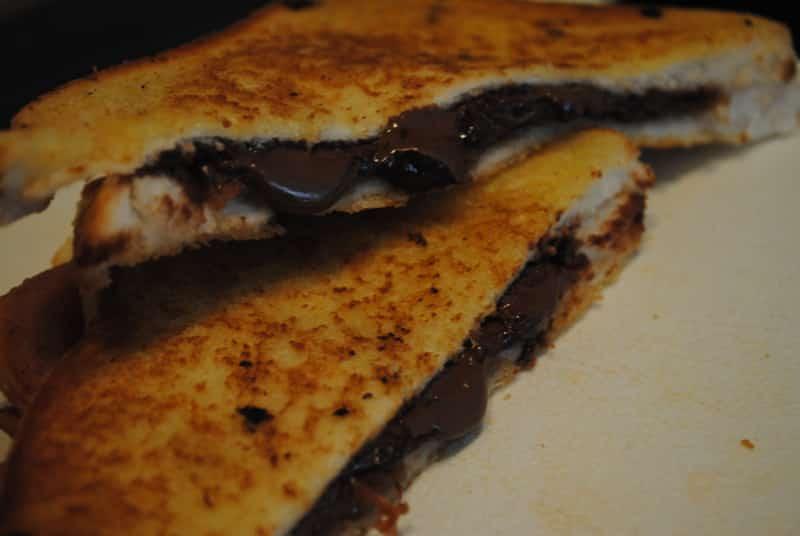 bacon chocolate toastie