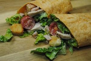 Chicken And Bacon Caesar Wraps Recipe - 1
