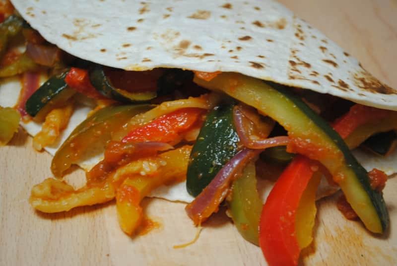 One Pan Vegetable Vegan Fajitas