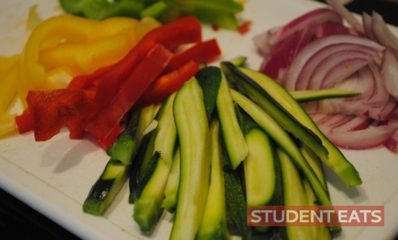vegetable fajitas student recipes 1