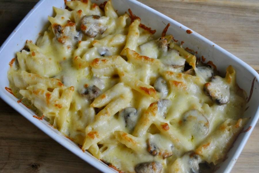 cheesy mushroom pasta bake recipe - 1