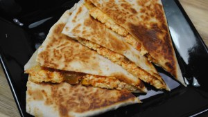 Vegetarian egg and salsa breakfast quesadilla recipe - 1
