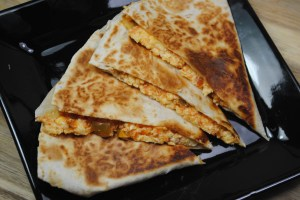 Vegetarian egg and salsa breakfast quesadilla recipe - 1