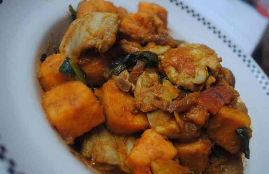 sweet potato chicken curry 1