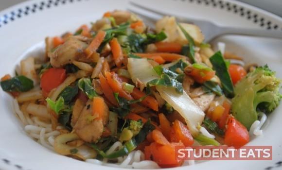 Easy Chinese chicken stir-fry 2