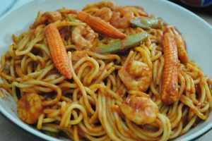 Super Healthy Prawn Spaghetti Recipe - 1