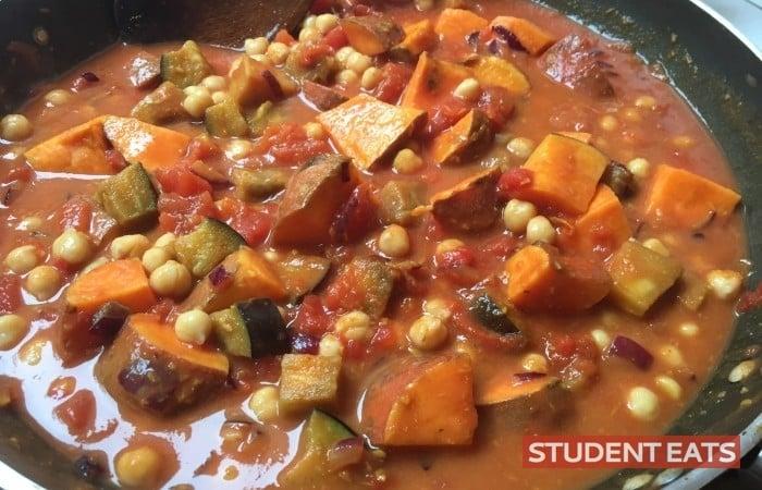 Aubergine Sweet potato Chickpea Curry recipe 3