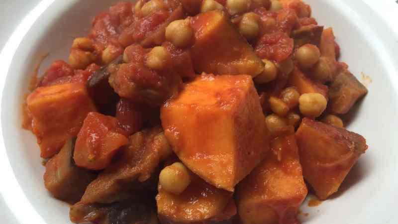 Aubergine Sweet potato Chickpea Curry recipe 5