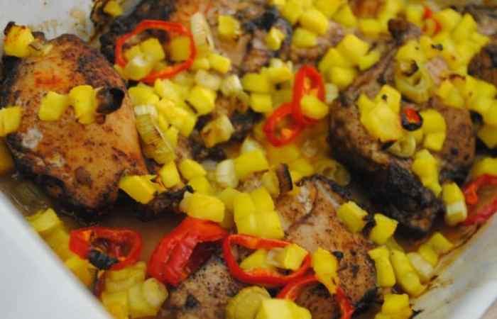 Caribbean-style sunshine chicken