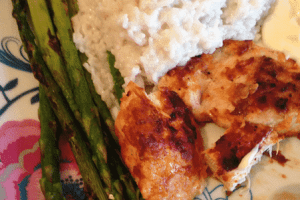 Grilled Chicken and Coconut rice