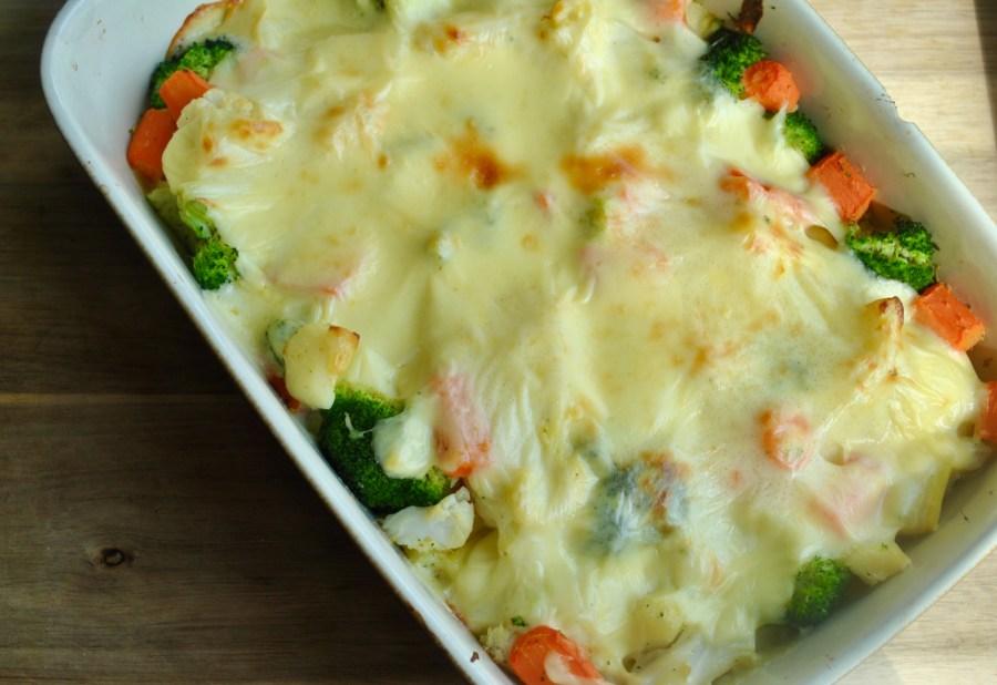 creamy cheese vegetable bake recipe - 3