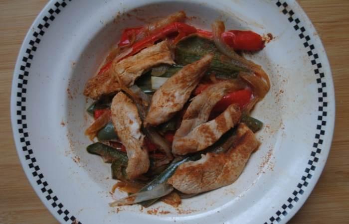 Microwave chicken fajitas
