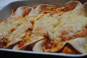 cheesy chicken Enchilada