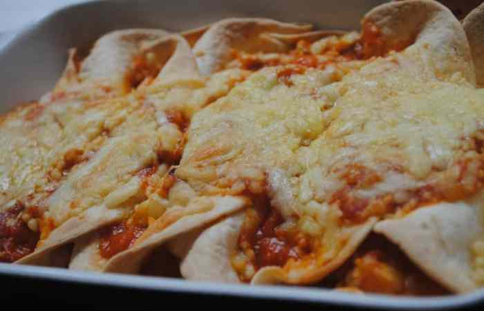 cheesy chicken Enchilada