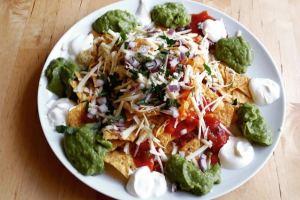 Zingy vegetarian nachos