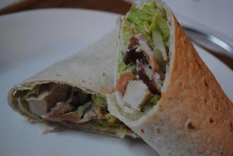 Chicken, Bacon and Avocado wrap