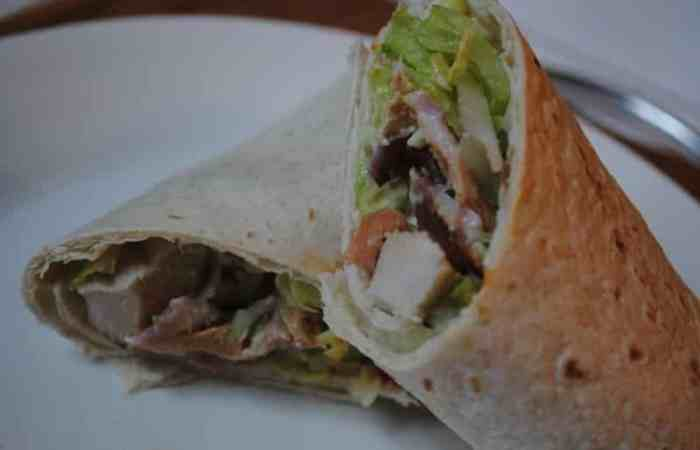 Chicken, Bacon and Avocado wrap
