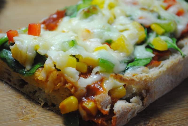 Veggie Packed Ciabatta Pizza