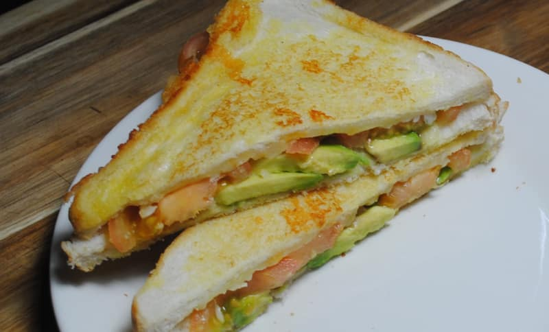 Avocado and Tomato Grilled Cheese Toasties