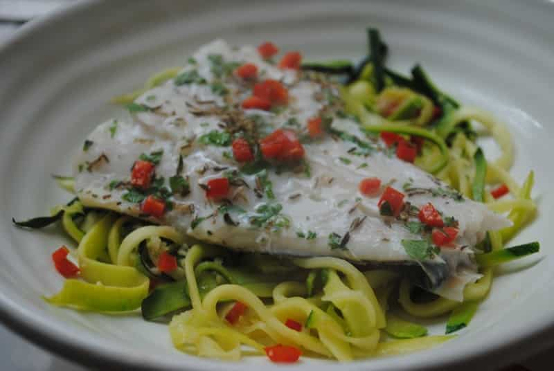 Healthy Haddock and Courgette Noodles