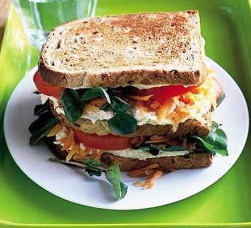 Vegetarian club sandwich
