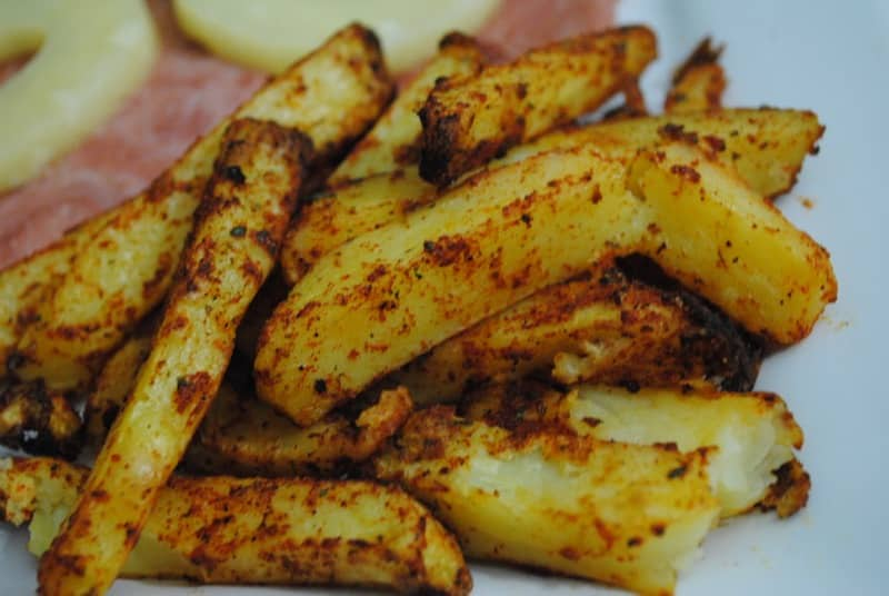 Sweet and spicy BBQ fries