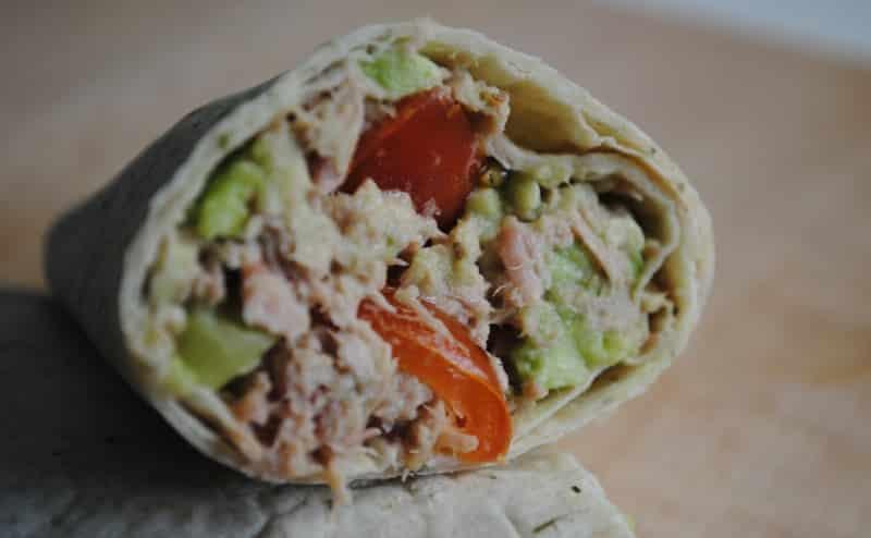 Healthy Tuna and Avocado Salad Wraps
