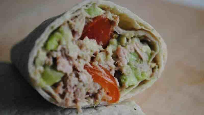 tuna avocado salad wraps recipe - 2