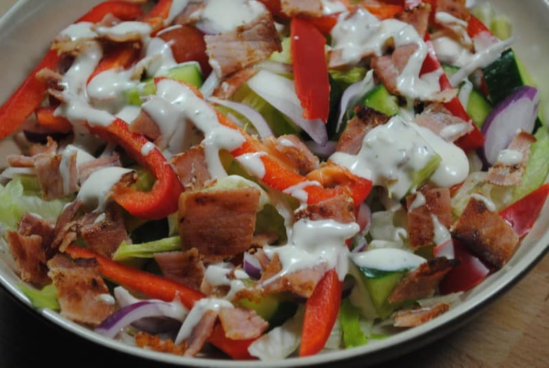 Scrummy Bacon Salad
