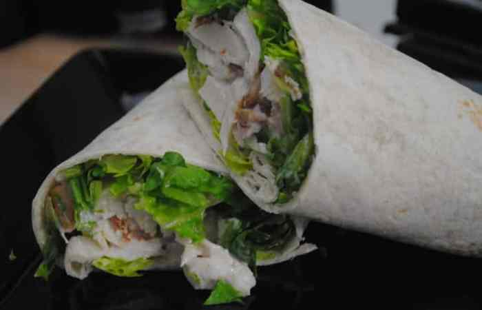 Chicken And Bacon Caesar Wraps