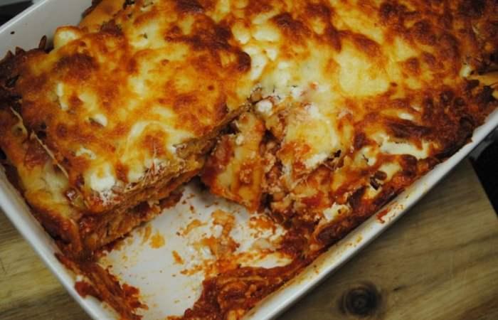 Leftover Pizza Lasagne
