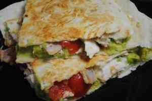 chicken bacon avocado tortilla toasties recipe - 1