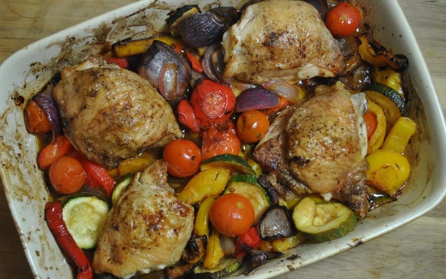 Healthy Lemon Roast Chicken & Vegetable One Dish Dinner Recipe - 2