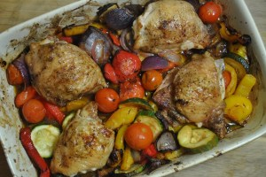 Healthy Lemon Roast Chicken & Vegetable One Dish Dinner Recipe - 2