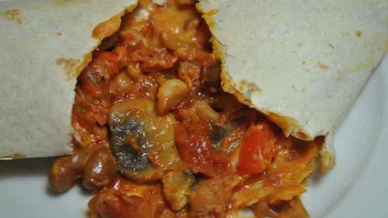 vegan veggie tomato wraps - 4