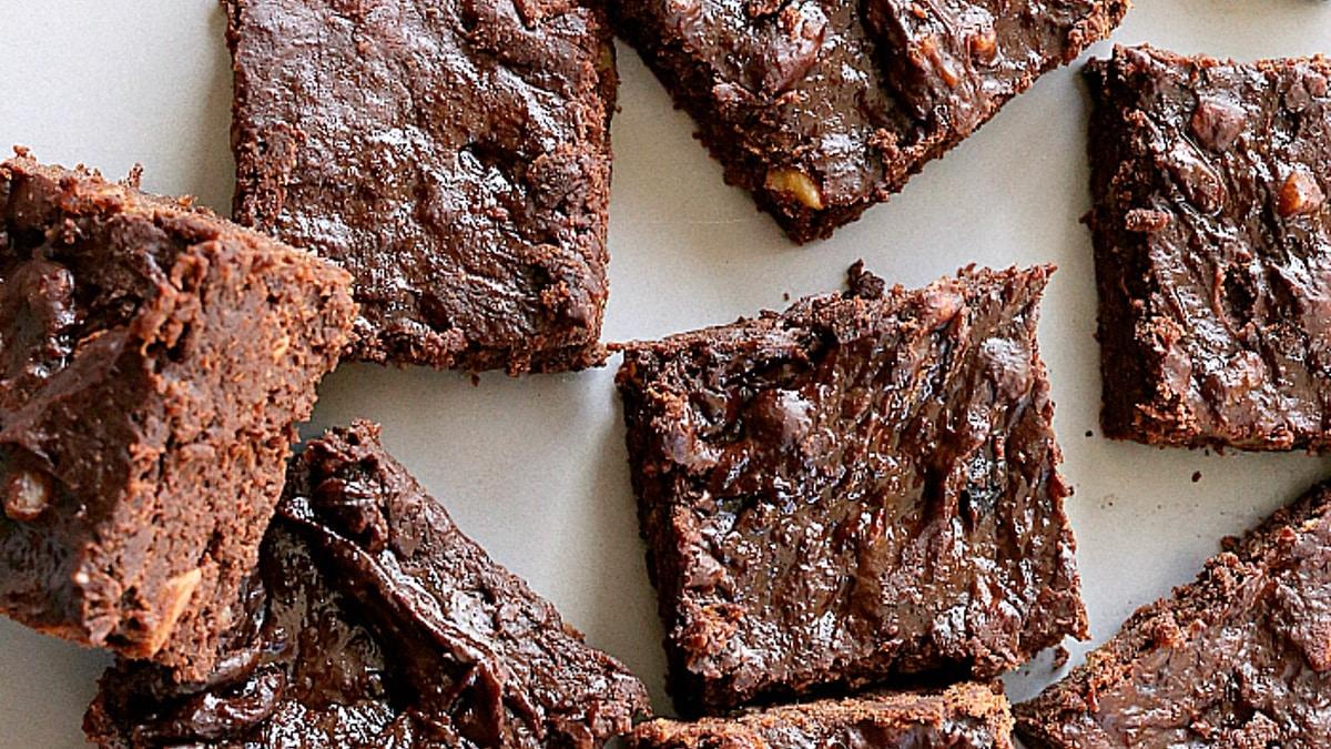 Three ingredient vegan brownies