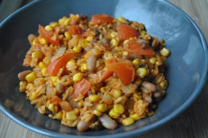 Vegan Bean and Veggie Burrito Rice Recipe - 1