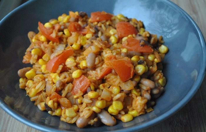 Vegan Bean and Veggie Burrito Rice Recipe - 1